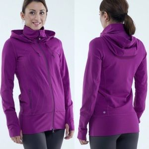 Lululemon Stride Jacket Potion Purple Hooded Sz 4
